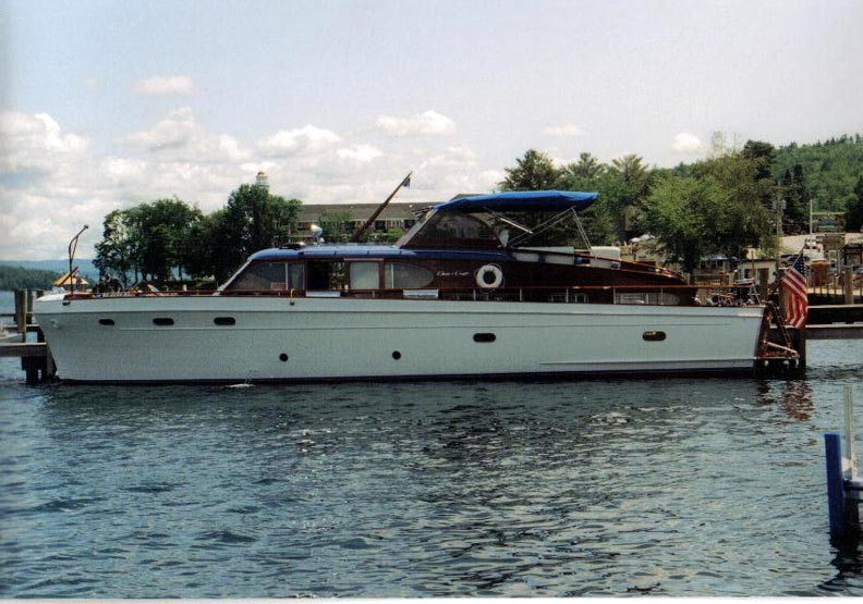 One of the largest pleasure boats on the lake is the Chris Craft Conqueror ...