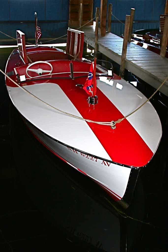 NANA - 1948 Chris Craft Racing Runabout - Bow Starboard View