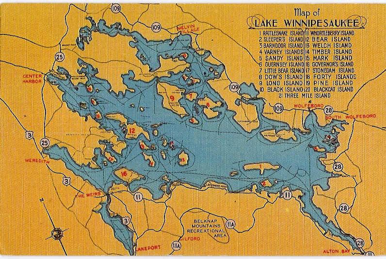 Map Of Lake Winnipesaukee Map of Lake Winnipesaukee   Winnipesaukee PhotoPost Gallery Map Of Lake Winnipesaukee